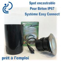 Spot Encastrable Pour béton 20W Système Easy Connect