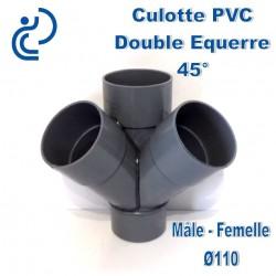 CULOTTE PVC DOUBLE EQUERRE 45° MF D110