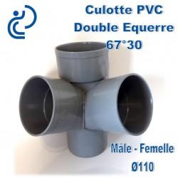CULOTTE PVC double équerre 67°30 MF D110