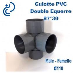 CULOTTE PVC Double équerre 87°30 MF D110