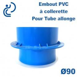 Embout PVC à Collerette pour Tube allonge lisse D90