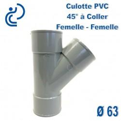 CULOTTE PVC 45° FF D63
