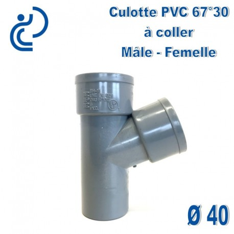 CULOTTE PVC 67°30 MF D40