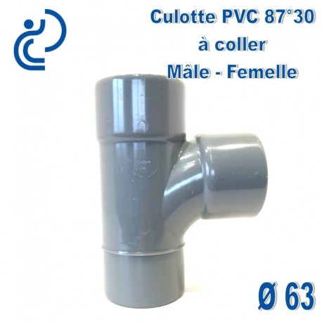 CULOTTE PVC 87.30° MF D63
