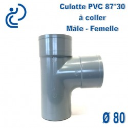 CULOTTE PVC 87.30° MF D80