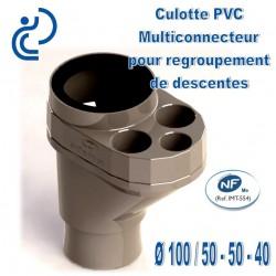 Culotte Multi-Connecteur D100/50-50-40 PVC NF Me