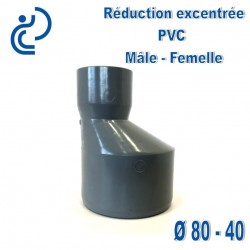REDUCTION EXCENTREE PVC 80X40 MF