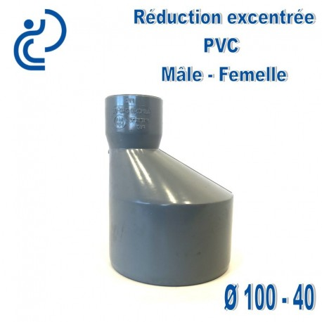 REDUCTION EXCENTREE PVC 100X40 MF