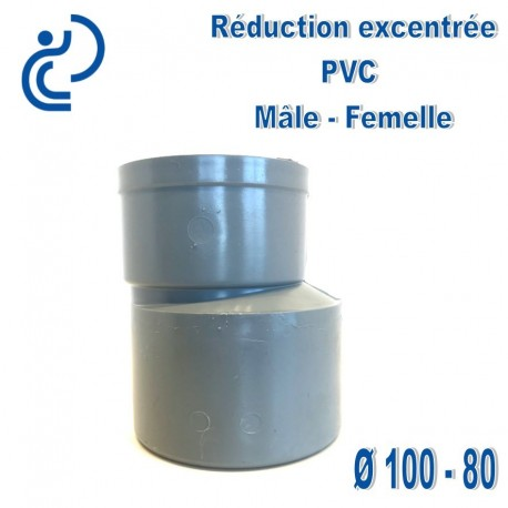 REDUCTION EXCENTREE PVC 100X80 MF
