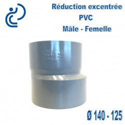 REDUCTION EXCENTREE PVC 140X125 MF