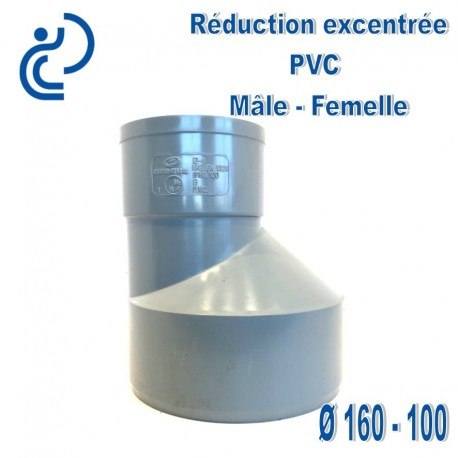 REDUCTION EXCENTREE PVC 160X100 MF