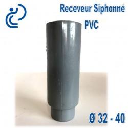 Receveur / Entonnoir siphonné PVC 32x40