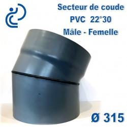 Secteur de Coude 22°30 D315 PVC MF