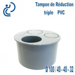 TAMPON DE REDUCTION PVC 100X40X40X32 MF