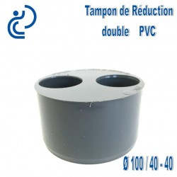 TAMPON DE REDUCTION PVC 100X40X40 MF