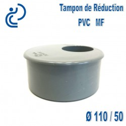 TAMPON DE REDUCTION PVC 110X50 MF