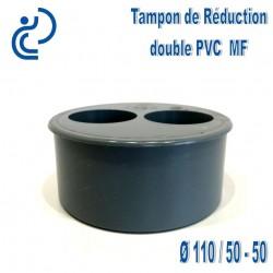TAMPON DE REDUCTION PVC 110X50X50 MF