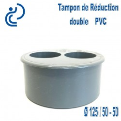 TAMPON DE REDUCTION PVC 125X50X50 MF