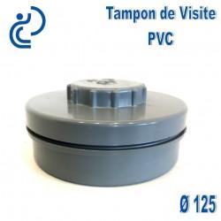 tampon de visite pvc d125