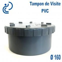 tampon de visite pvc d160