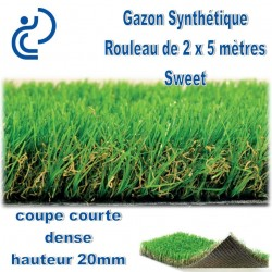 Gazon Synthétique en rouleau de 2mx5m SWEET