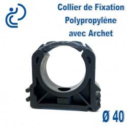 Collier de Fixation D40 Polypropylène avec archet