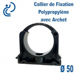 Collier de Fixation D50 Polypropylène Avec Archet de blocage