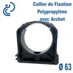 Collier de Fixation D63 Polypropylène avec archet