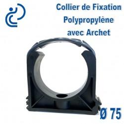 Collier de Fixation D75 Polypropylène avec archet