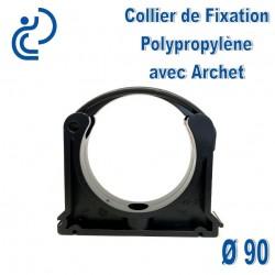 Collier de Fixation D90 Polypropylène avec archet