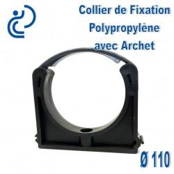 Collier de Fixation D110 Polypropylène avec archet