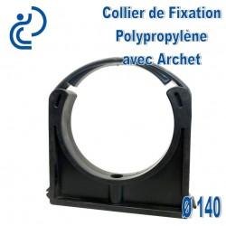 Collier de Fixation D140 Polypropylène avec archet