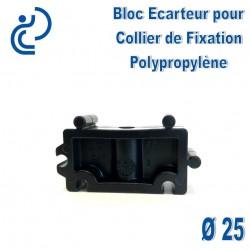 Bloc Ecarteur pour Collier de Fixation D25 Polypropylène