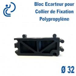 Bloc Ecarteur pour Collier de Fixation D32 Polypropylène