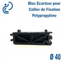 Bloc Ecarteur pour Collier de Fixation D40 Polypropylène