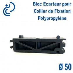 Bloc Ecarteur pour Collier de Fixation D50 Polypropylène