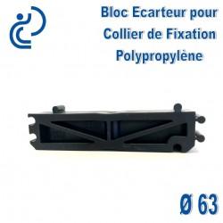 Bloc Ecarteur pour Collier de Fixation D63 Polypropylène