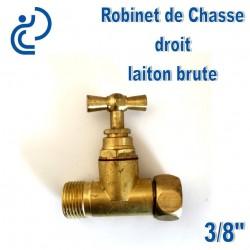 """Robinet de chasse en laiton chrome droit 3/8"""""""