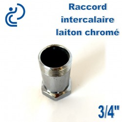 "Raccord intercalaire 3/4"" en laiton chrome"