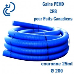 Gaine PEHD échangeur Géothermique DN200 couronne 25ml