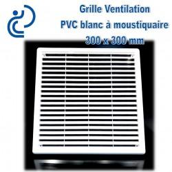 Grille de Ventilation Carrée PVC Blanc 30x30 à moustiquaire