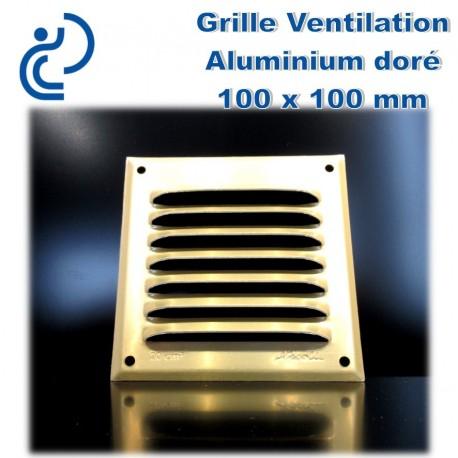 Grille de ventilation en aluminium dor 10x10 - Grille de ventilation exterieure aluminium ...