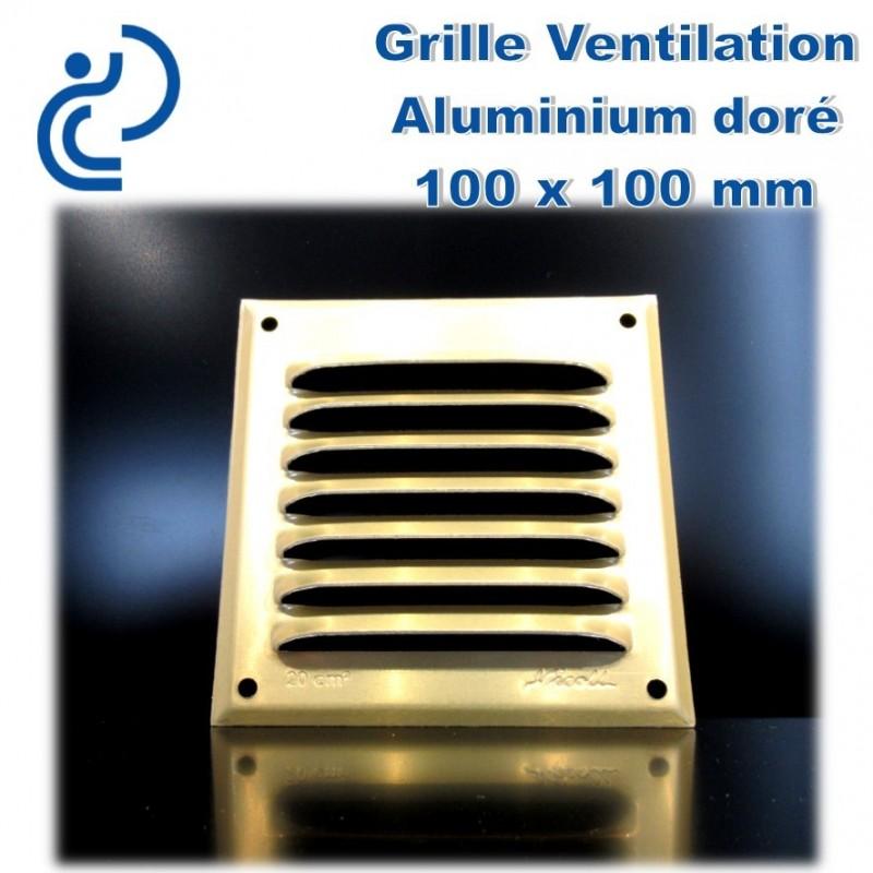 Grille de ventilation en aluminium dor 10x10 - Grille de ventilation aluminium ...