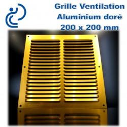 GRILLE DE VENTILATION DORE 20x20