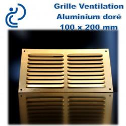 GRILLE DE VENTILATION DORE 10x20