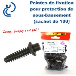 Pointes ISOL FIX pour fixation de protections de sous bassement (sachet de 100)