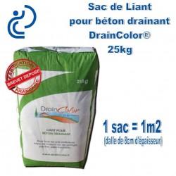 Sac de Liant pour Béton Drainant DRAINCOLOR 25kg
