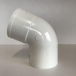 COUDE GOUTTIERE PVC BLANC