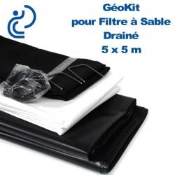 Géokit Drainé pour Filtre à Sable 5 mètres x 5 mètres