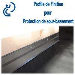 Profile de Finition et Fixation pour protection de sous bassement (2ml)